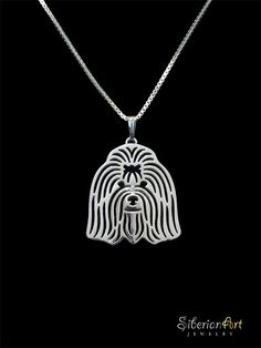 Coton de Tulear  sterling silver pendant and necklace