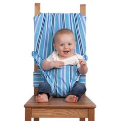 No high chair? No problem! (Doesn't give directions but it looks easy to do!)