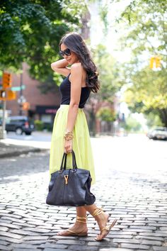 Chartreuse Skirt.