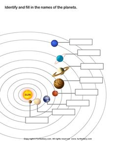 Worksheets Our Solar System Print 1st Grade Worksheets, Science Worksheets, Science Lessons, Science Projects, Life Science, Solar System Planets, Our Solar System, Solar System Order, Earth And Space Science