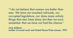 mother of SW Nobel Prize winner. I can't stand it when second and third wave feminists blame all the worlds problems on men. Social Work Quotes, Social Work Humor, Nurse Quotes, Me Quotes, Famous Quotes, Jane Addams, Nursing Memes, Funny Nursing, Pharmacy Humor