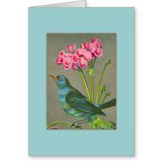 Blank Note Card - Blue Bird