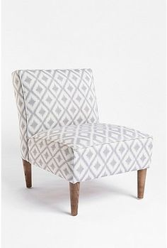 ikat slipper chair $379...next to my sofa in my gray living room