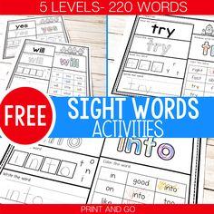 Free Digital Play Dough Kindergarten Sight Word Activities - Life Over Cs Preschool Sight Words, Learning Sight Words, Sight Word Practice, Sight Word Games, Sight Word Activities, Fun Activities, Preschool Alphabet, Learning Time, Learning Tools