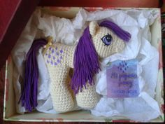 This one mom! Crochet Pony, Crochet Horse, Crochet Unicorn, Love Crochet, Filet Crochet, Crochet Dolls, Crochet Animals, Amigurumi Tutorial, Crochet Amigurumi Free Patterns