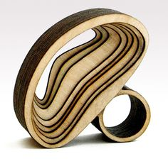 "Birch Wood ""Arch"" ring by Anthony Roussel"