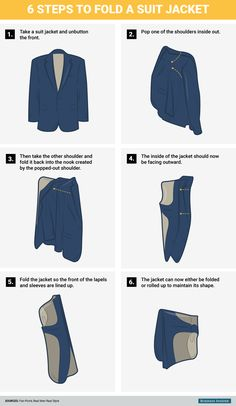 How to fold a suit so it doesn't wrinkle - Business Insider
