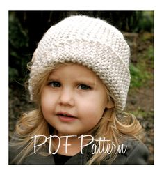 Knitting PATTERNThe Piper Cloche' Toddler Child by Thevelvetacorn, $5.50