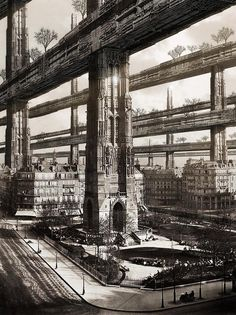 'H. Ferriss's Paris Visit' by Francisco Villeda (incorporating the real Tour Saint-Jacques) http://realitycues.com/competitions/the--competition/…