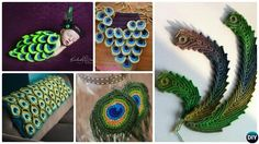 Crochet Peacock Feather Free Patterns and Applique Projects: Crochet Peacock blanket, Baby Cocoon outfit, Earrings and More with video.