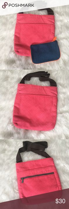 Pink Thirty One Crossbody Pink Thirty One Crossbody purse. Brand new!! Pattern no longer sold. 11 X 12 new without tags. Comes with free little clutch/mini bag that is also brand new!  • No Trades • Price is firm unless Bundled • 15% off of bundles of 3 or more • Banana Republic Bags Crossbody Bags