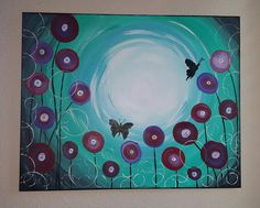 Check out this item in my Etsy shop https://www.etsy.com/listing/267141861/butterfly-garden-16x20-acrylic-on-canvas