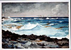 Shore and Surf, Nassau  Winslow Homer, Shore & Surf, Nassau, watercolor & graphite on paper, 1899, Metropolitian Museum of Art, New York