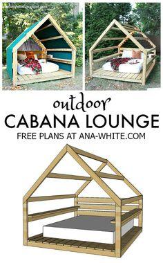 plans gratuits diy salon cabana extérieur
