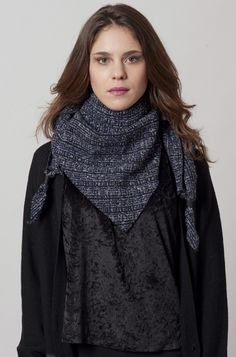 VORTICE 208 - Scarf with leather laces - ARTILLERYLANE - Made in Italy  Leather And Lace 8bd68492bd09