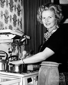 MARGARET THATCHER (1925-2013). English politician. Photographed at her home in Chelsea, England, 1975, shortly before being named leader of the Conservative Party.