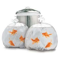 Goldfish Trash Bags neat!