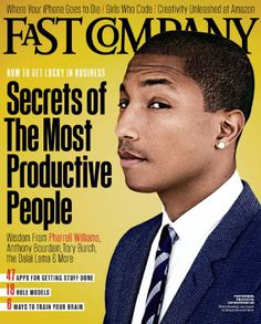 Pharrell Williams covers Fast Company magazine- LOVE this mag!