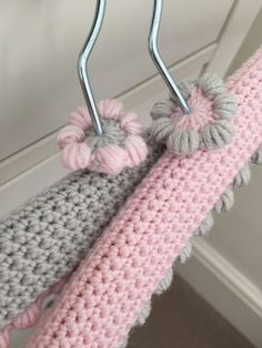 crochet hangers: Kate Eastwood's Pretty Crochet Hanger Covers on the… Crochet Hook Set, Crochet Coat, Love Crochet, Crochet Gifts, Crochet Motif, Crochet Baby, Crochet Flower Patterns, Crochet Flowers, Wooden Hangers