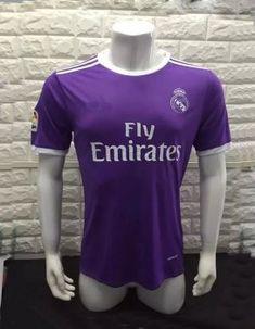 2016-17 Real Madrid C.F Away Purple Soccer Jersey Shirt [F829]