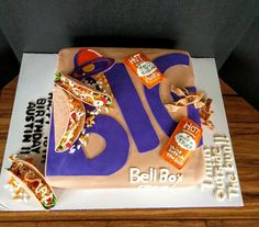 Taco Bell Cake My son's birthday cake. 18th Birthday Cake, Twin Birthday, Birthday Party Themes, Birthday Ideas, Fun Cakes, Party Cakes, Cupcake Cakes, Cute Desserts, Dessert Recipes