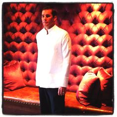Executive Chef Adam Hayes in the Original Chef Coat by Sandra Harvey. #foodie #chef #cook #fashion www.sandraharvey.com