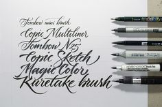 Behance :: Workshop Brush pen Letters by Jackson Alves
