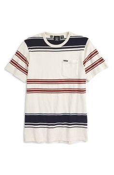 Volcom 'Hayward Stripe' Crewneck T-Shirt (Big Boys) available at #Nordstrom