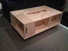 wine crate coffee table | Download full resolution