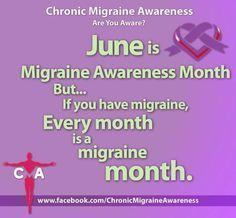 Migraine Awareness Month meme. #CMAware