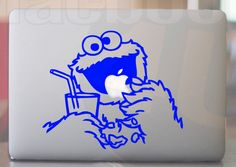 Blue Cookie Monster Vinyl Decal sticker for by macbookdecal4u, $8.90