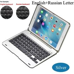 Dustproof 2in1 Bluetooth 3.0 Wireless Keyboard Foldable Case Stand Cover Holder for iPad Mini 1 2 3 Russian/English Choose