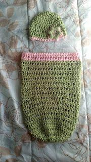 Cocoon & Hat - free crochet pattern