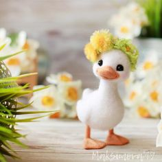 Made to order - Felted Duck : Needle Felting Animal Baby Animals Super Cute, Cute Stuffed Animals, Cute Little Animals, Cute Funny Animals, Needle Felted Animals, Felt Animals, Needle Felting, Felt Diy, Felt Crafts