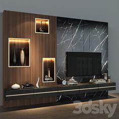 Modern Tv Room, Modern Tv Wall Units, Modern Living, Tv Cabinet Wall Design, Tv Wall Design, Living Room Partition Design, Living Room Tv Unit Designs, Home Room Design, Bathroom Interior Design