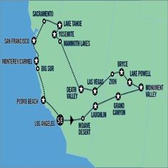 idea de itinerario y ruta