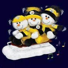 Pittsburgh Steelers Football, Pittsburgh Sports, Steelers Fans, Here We Go Steelers, Steeler Nation, Winter Wonder, Black N Yellow, Snowman, Christmas Cards