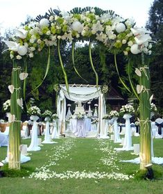 wedding ceremony decorations; outdoor; arch; flowers | outdor wedding decorations outdoor wedding decorations