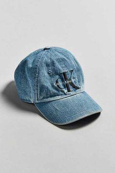 2b9a28ada19f5 Calvin Klein Baseball Hat. Denim Baseball CapBaseball HatsUrban OutfittersCalvin  KleinMens ...
