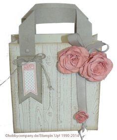 Geschenkverpackung, eine Tüte im Vintage Look