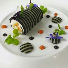 Chef Nicolas Isnard Squid Ink Cannelloni/Spaghetti -Gravlax Salmon Mousse