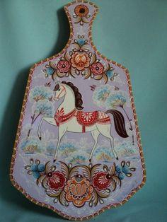 о Rosemaling Pattern, Horse Rugs, Polish Folk Art, Russian Folk Art, Naive Art, Horse Art, Canvas Artwork, Traditional Art, Painting On Wood
