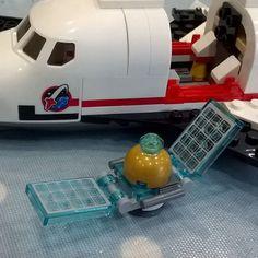 #lego #spaceship underconstruction with satellite #follow