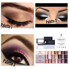 Eyeshadow palettes. I like palette 3