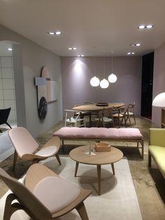 milan furniture fair 2016 - Carl Hansen ... Pastel colours Pastel Furniture, Milan Furniture, Pastel Colors, Colours, Corporate Interiors, Interior Decorating, Interior Design, Lounge Sofa, Sofa Design