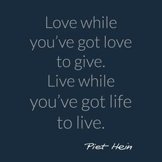 Famous quote by Piet Hein. Quote about love and life. Wedding inspiration.