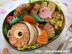 """Nemo"" ー themed Character Bento ・ 二ーモーキャラ弁(*^▽^*)"