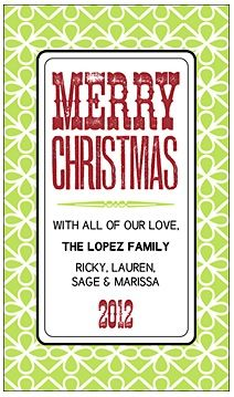 20 FREE Christmas Personalized Gift Tags