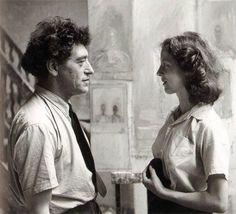 Giacometti y su musa, modelo y esposa Annette