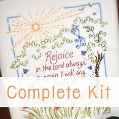 Beautiful Embroidery Kits and Patterns